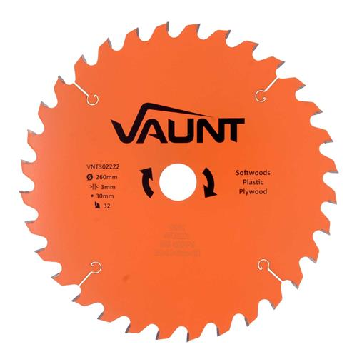 Vaunt 302222 260mm 32 Tooth TCT Blade