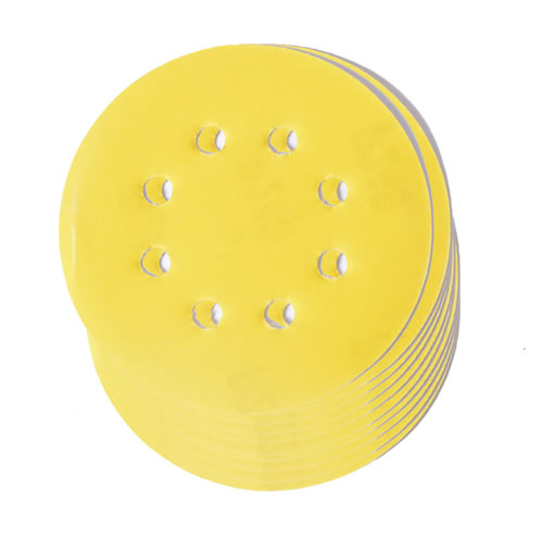 Vaunt 30291 150mm 80 Grit Yellow Abrasive Discs - Pack of 10