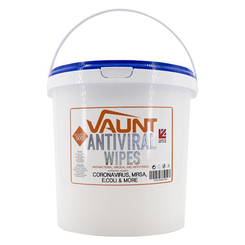 Vaunt  Anti Viral Cleaning and Sanitising Wipes (Tub Of 500) Effective Against Covid 19
