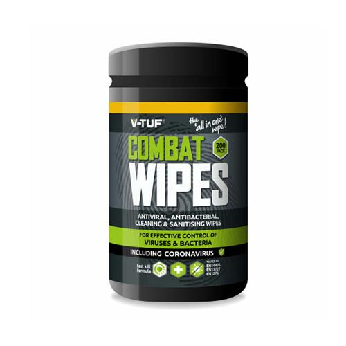 V-Tuf Anti-Viral & Anti-Bacterial All-In-One Wipes Pack 200