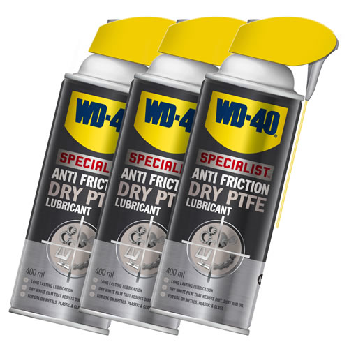 WD40 44394PK3 WD-40 Anti Friction DRY PTFE Lubricant 400ml (Pack of 3)