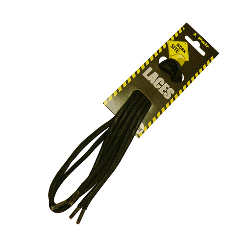 Work Site W69001 Black Waxed Laces 90cm