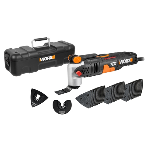 Worx WX681 F50 450W Sonicrafter Corded Multi Tool with 40 Accessories