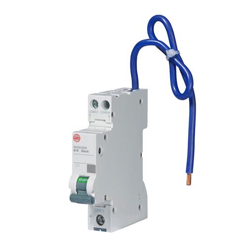 Wylex 16A 30mA Miniature RCBO with Switched Neutral, B Curve