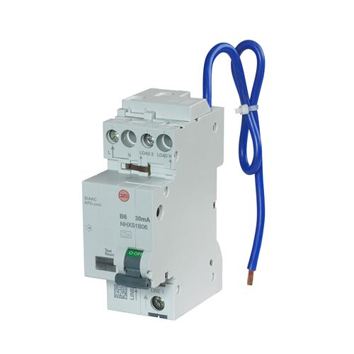 Wylex NHXSB06AFD 6A 30mA B Curve RCBO AFDD Combined CPD