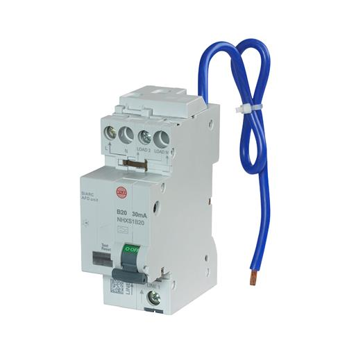 Wylex NHXSB20AFD 20A 30mA B Curve RCBO AFDD Combined CPD