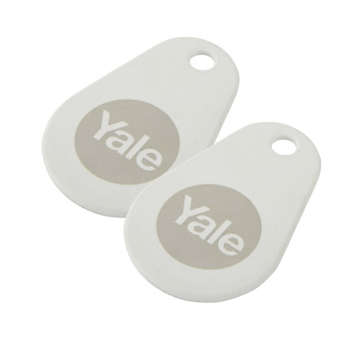 Yale P-YD-01-CON-RFIDT-WH Yale Keyless Connected White Key Tags (Pack of 2)