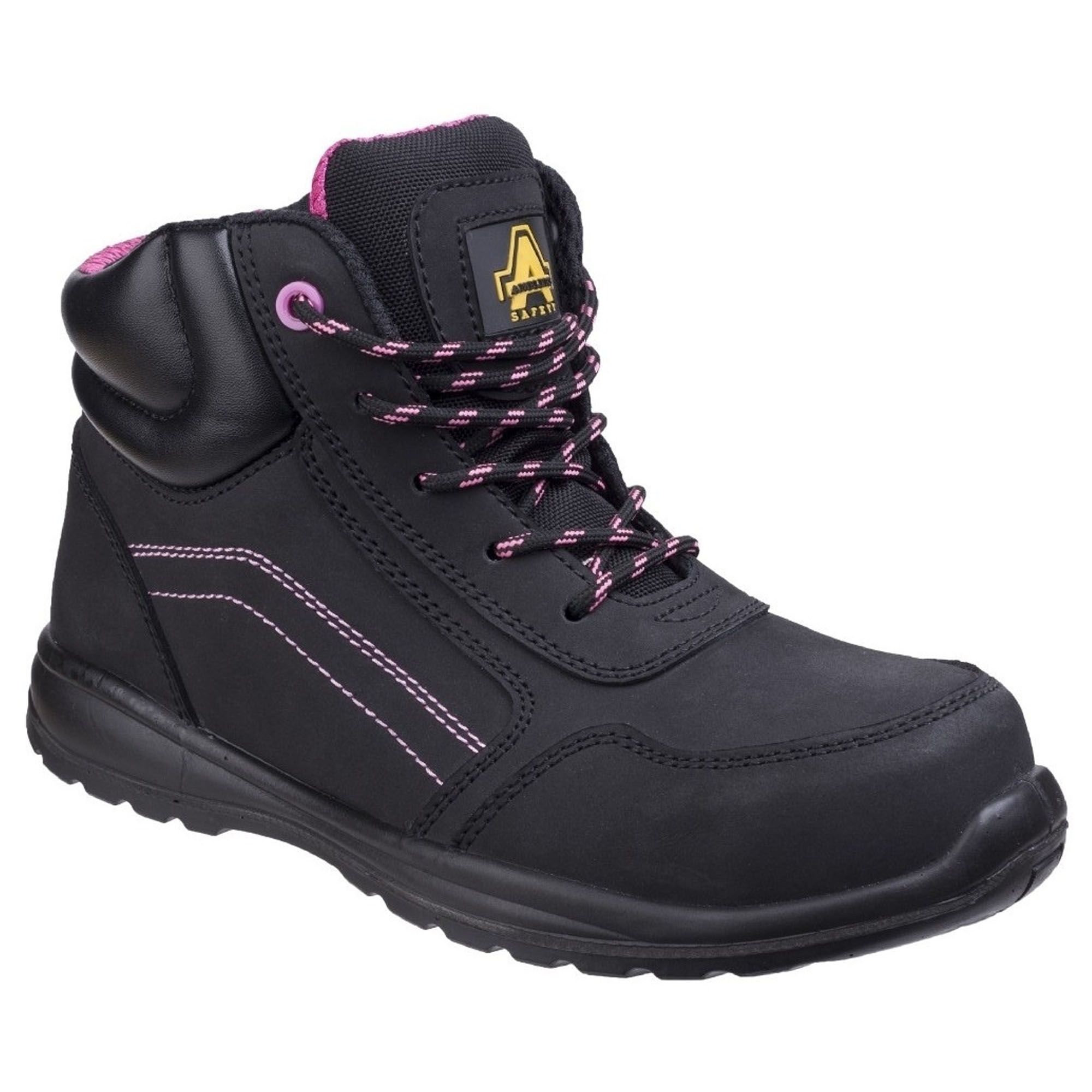 dfa9a4e251a Amblers,LYDIAWO,Lydia Composite Safety Boot - Black/Pink
