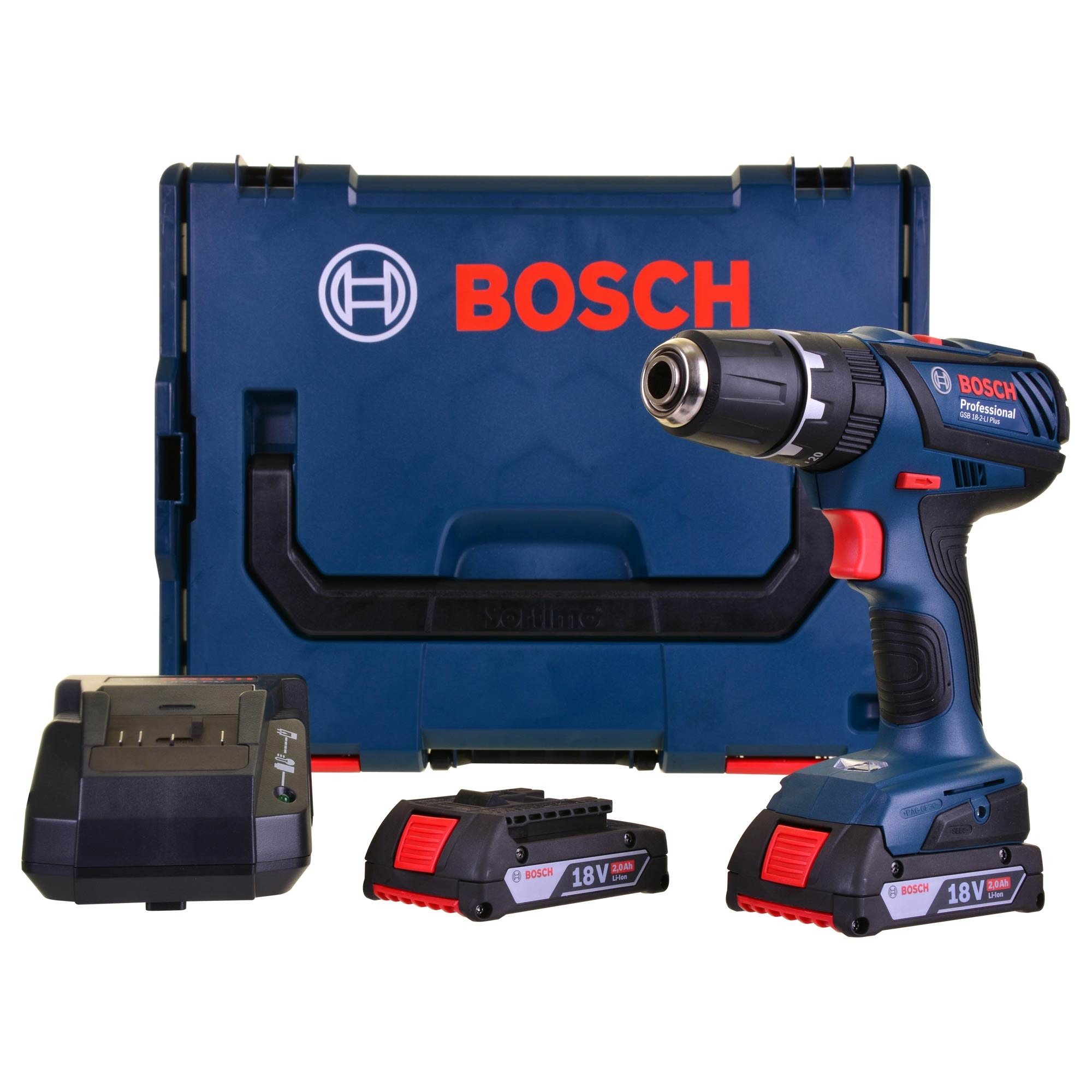 bosch gsb18 2 li plus bosch 18v li ion cordless hammer drill driver. Black Bedroom Furniture Sets. Home Design Ideas