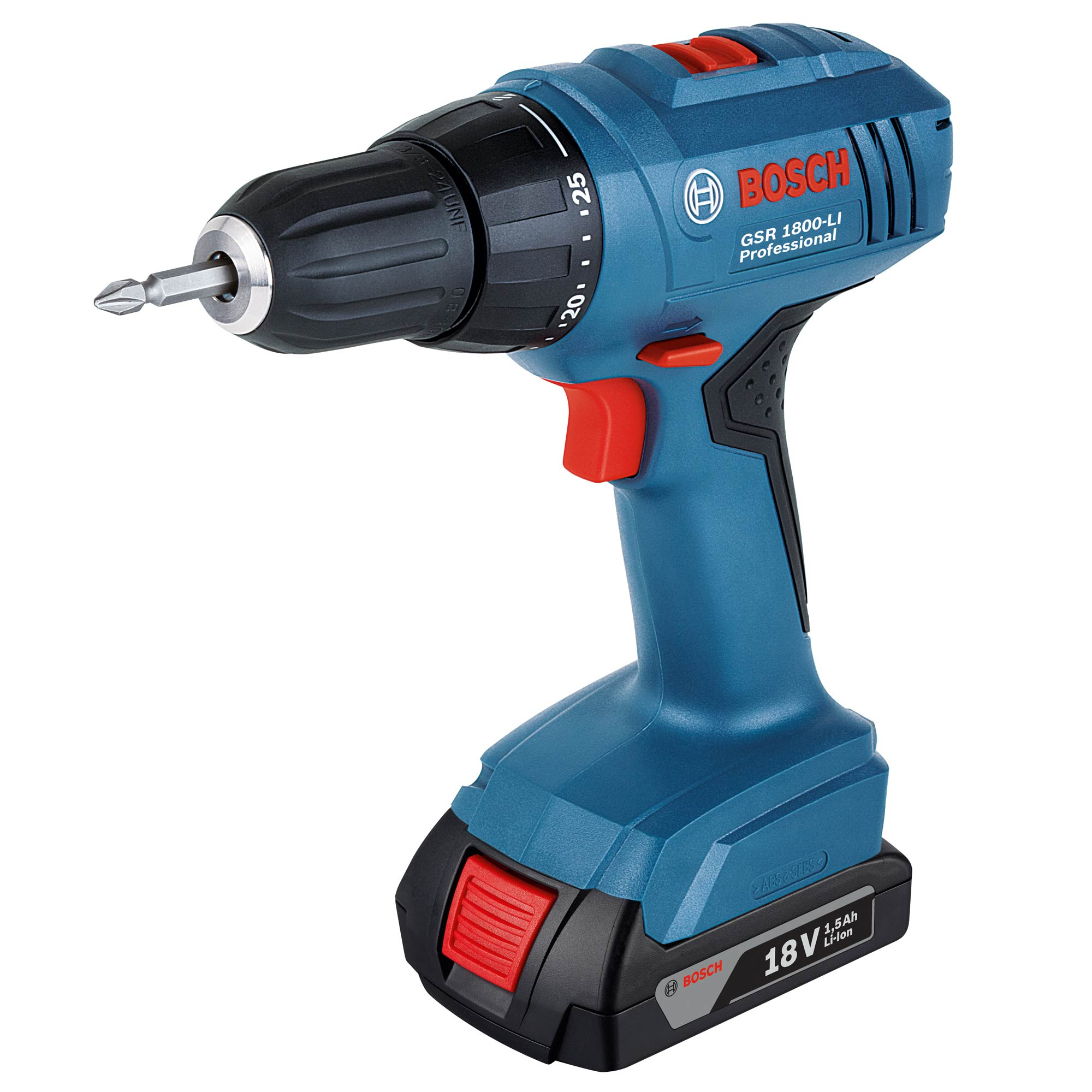 bosch gsr 1800 li bosch 18v li ion professional drill driver. Black Bedroom Furniture Sets. Home Design Ideas