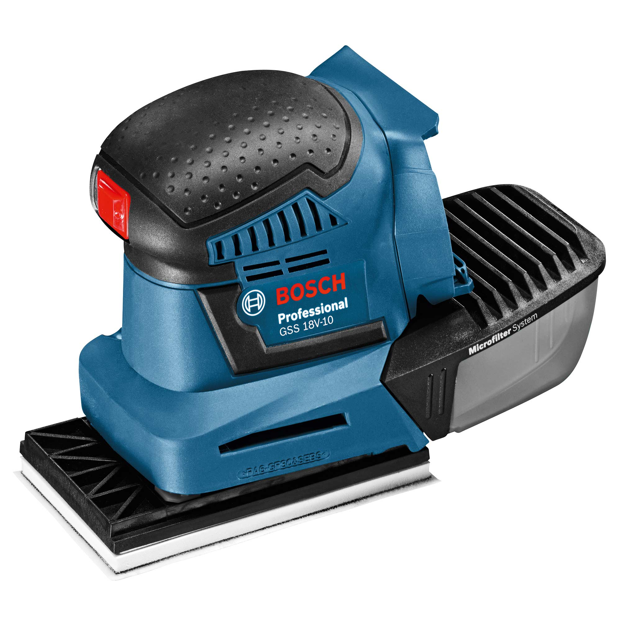 bosch gss 18v 10n bosch 18v li ion multi base orbital sander body only. Black Bedroom Furniture Sets. Home Design Ideas