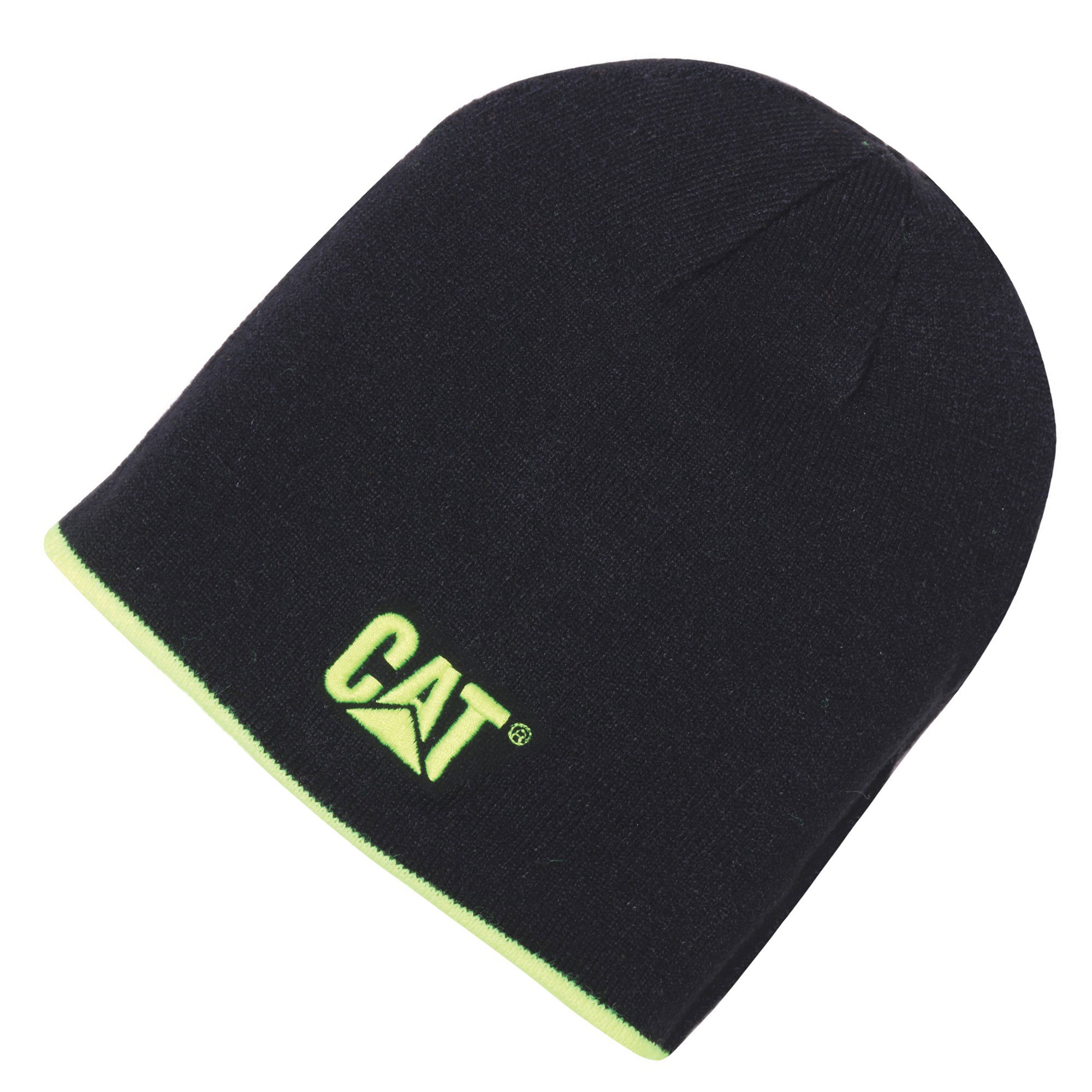 64b5dcba62e CAT 1120070 CAT Reversible Logo Beanie Hat One Size - Black