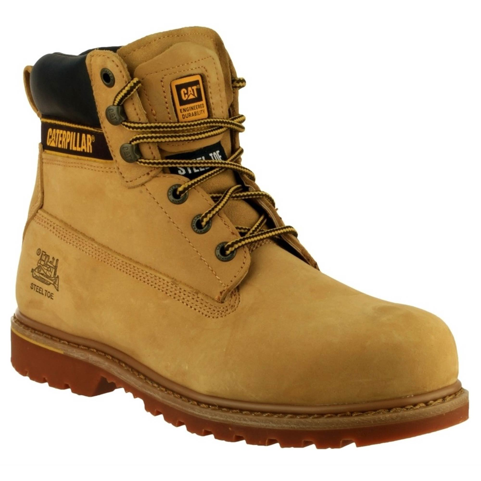 Cat Holtonhn Caterpillar Holton Safety Boots Honey