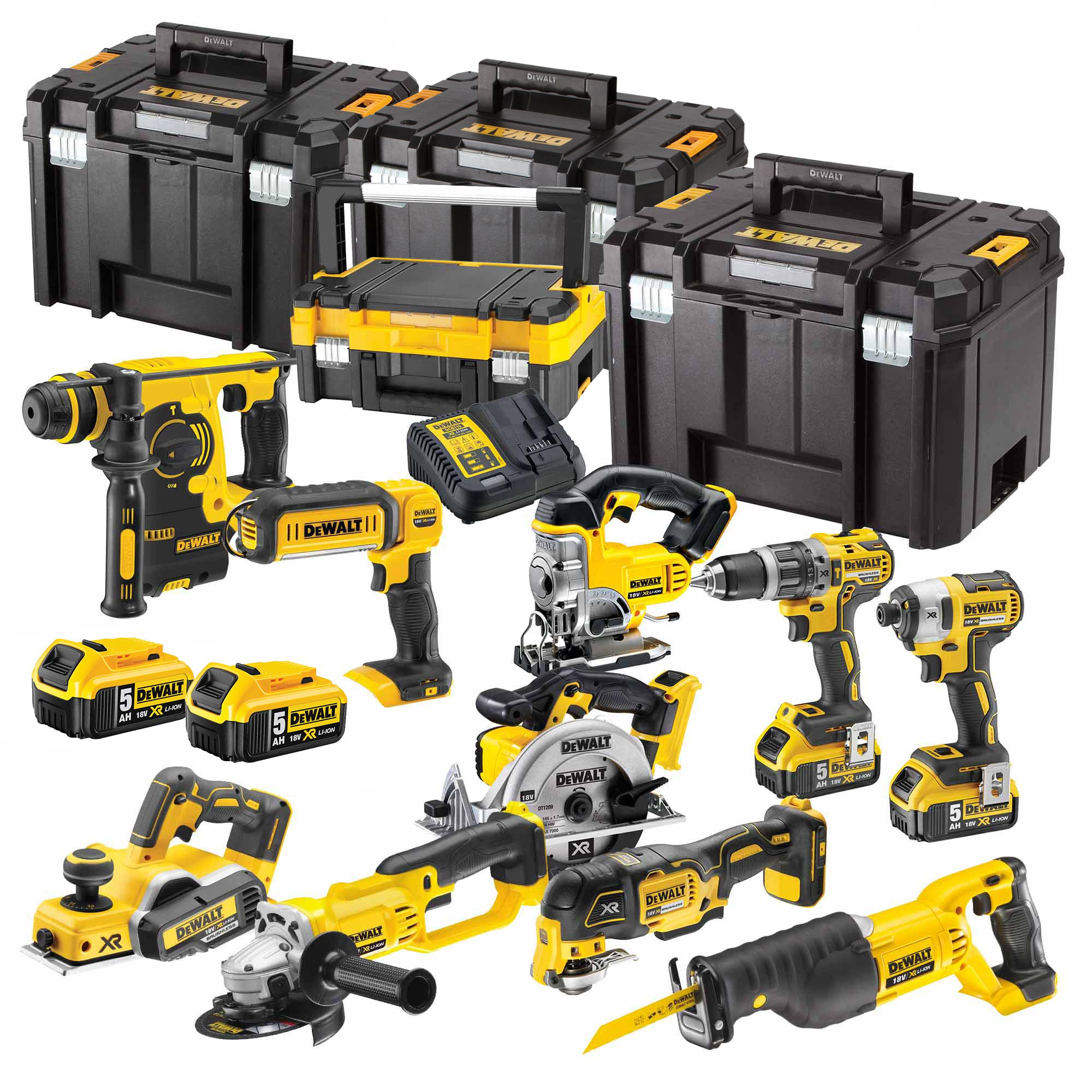 dewalt bxr10p dewalt 18v lithium ion 10 piece kit. Black Bedroom Furniture Sets. Home Design Ideas