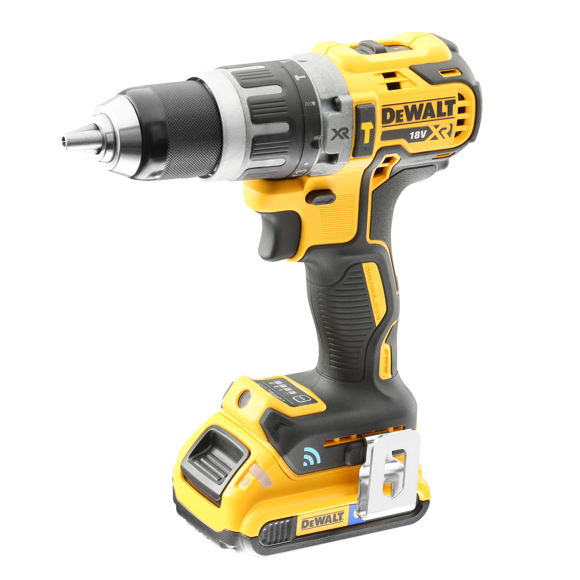 dewalt 18v tools. dewalt dcd797d2b-gb 18v xr brushless tool connect compact hammer drill driver tools