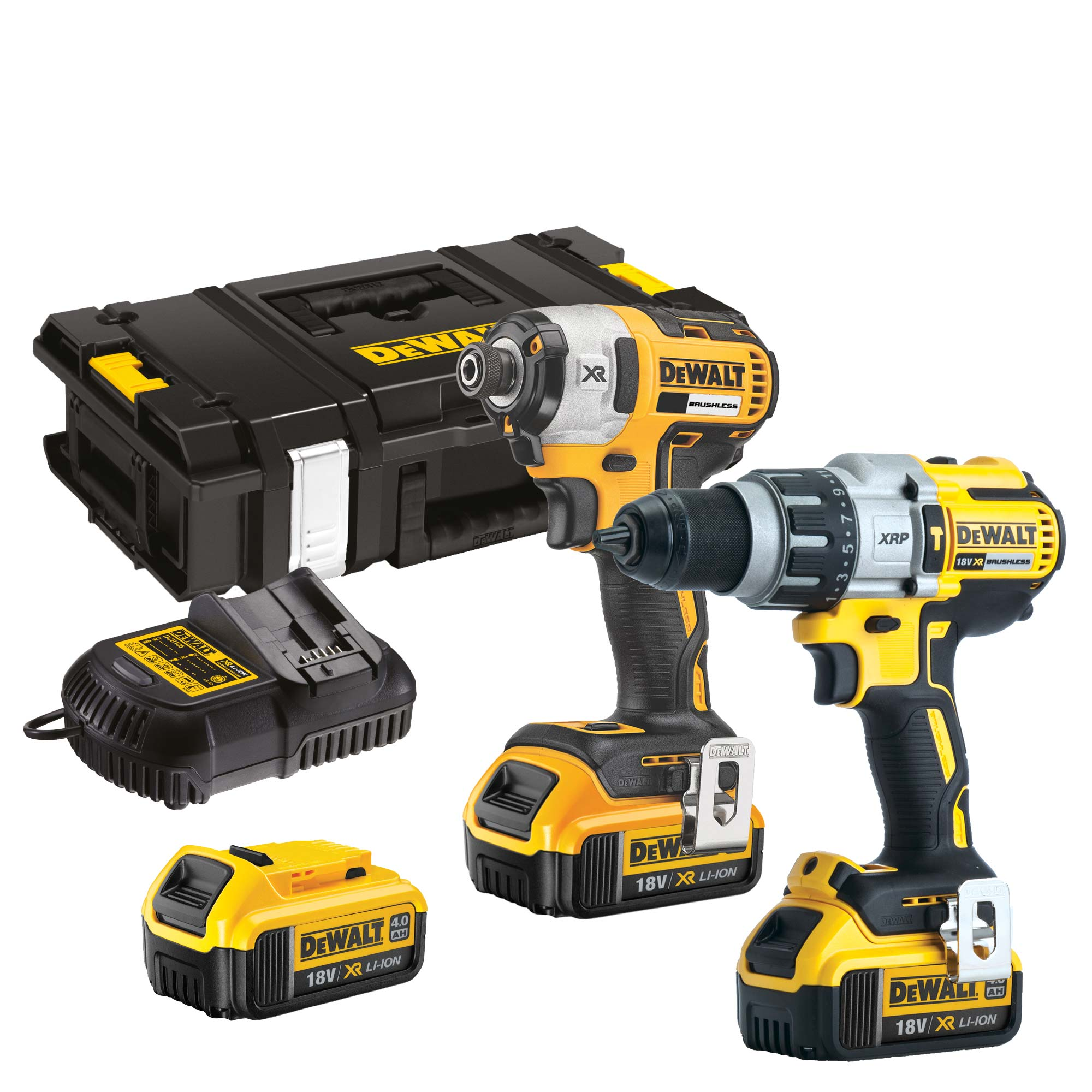 dewalt dck276m3 dewalt 18v xr 4 0ah li ion brushless 2. Black Bedroom Furniture Sets. Home Design Ideas