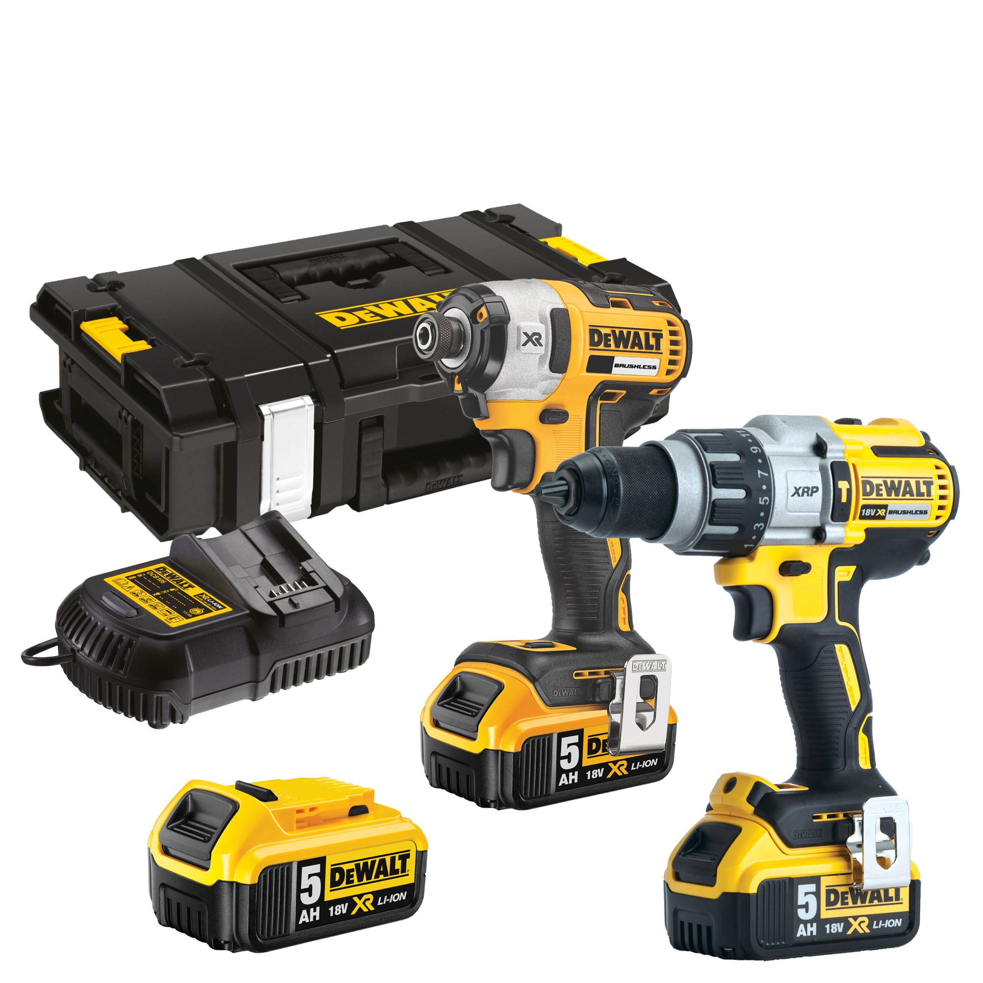 dewalt dck276p3 dewalt 18v xr 5 0ah li ion brushless 2. Black Bedroom Furniture Sets. Home Design Ideas