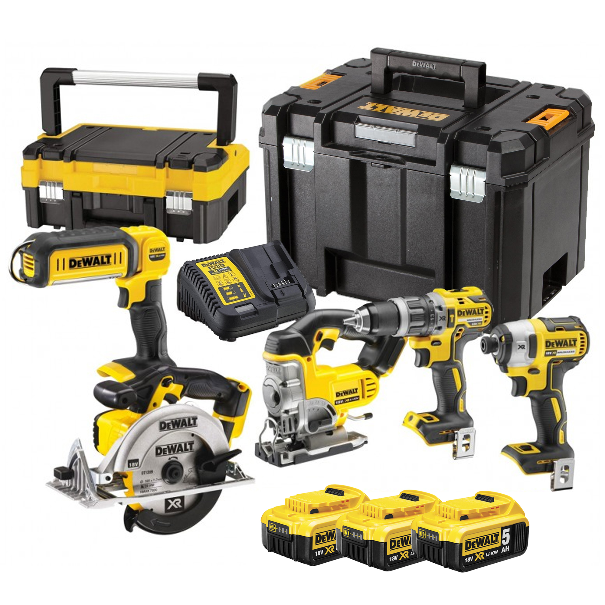 dewalt dck551p3t dewalt 18v lithium ion 5 piece package. Black Bedroom Furniture Sets. Home Design Ideas