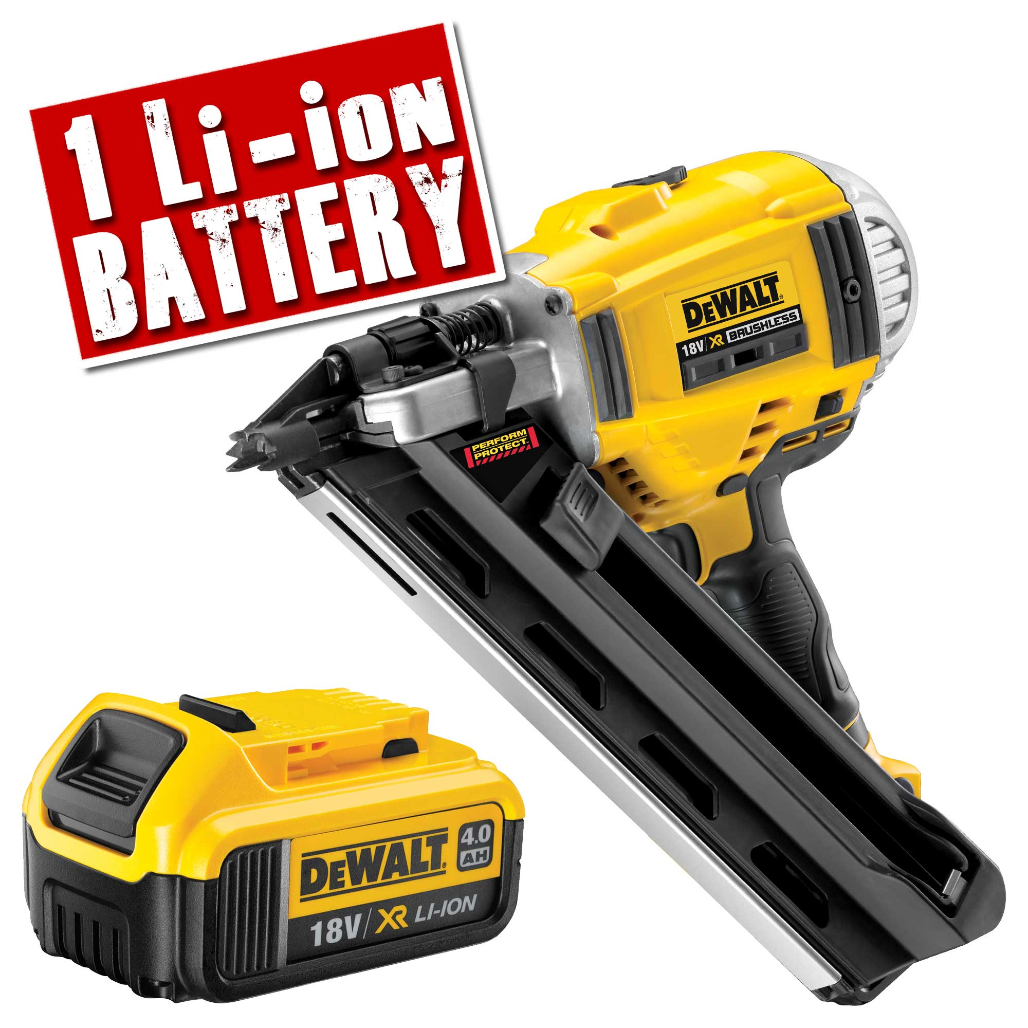 dewalt dcn692n4 dewalt cordless 18v xr li ion framing nailer body 1 x 40