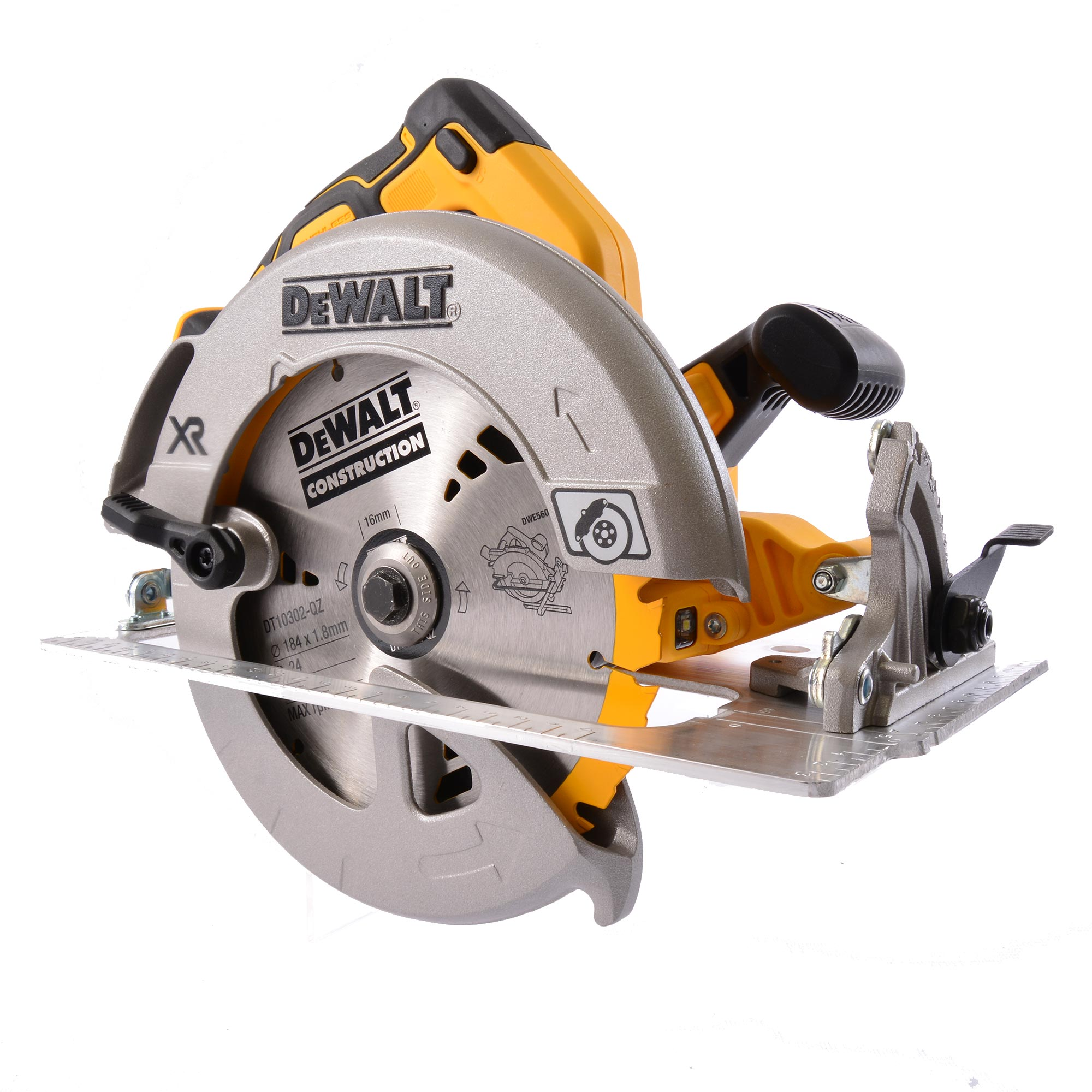 dewalt dcs570 dewalt 18v xr brushless 184mm circular saw. Black Bedroom Furniture Sets. Home Design Ideas