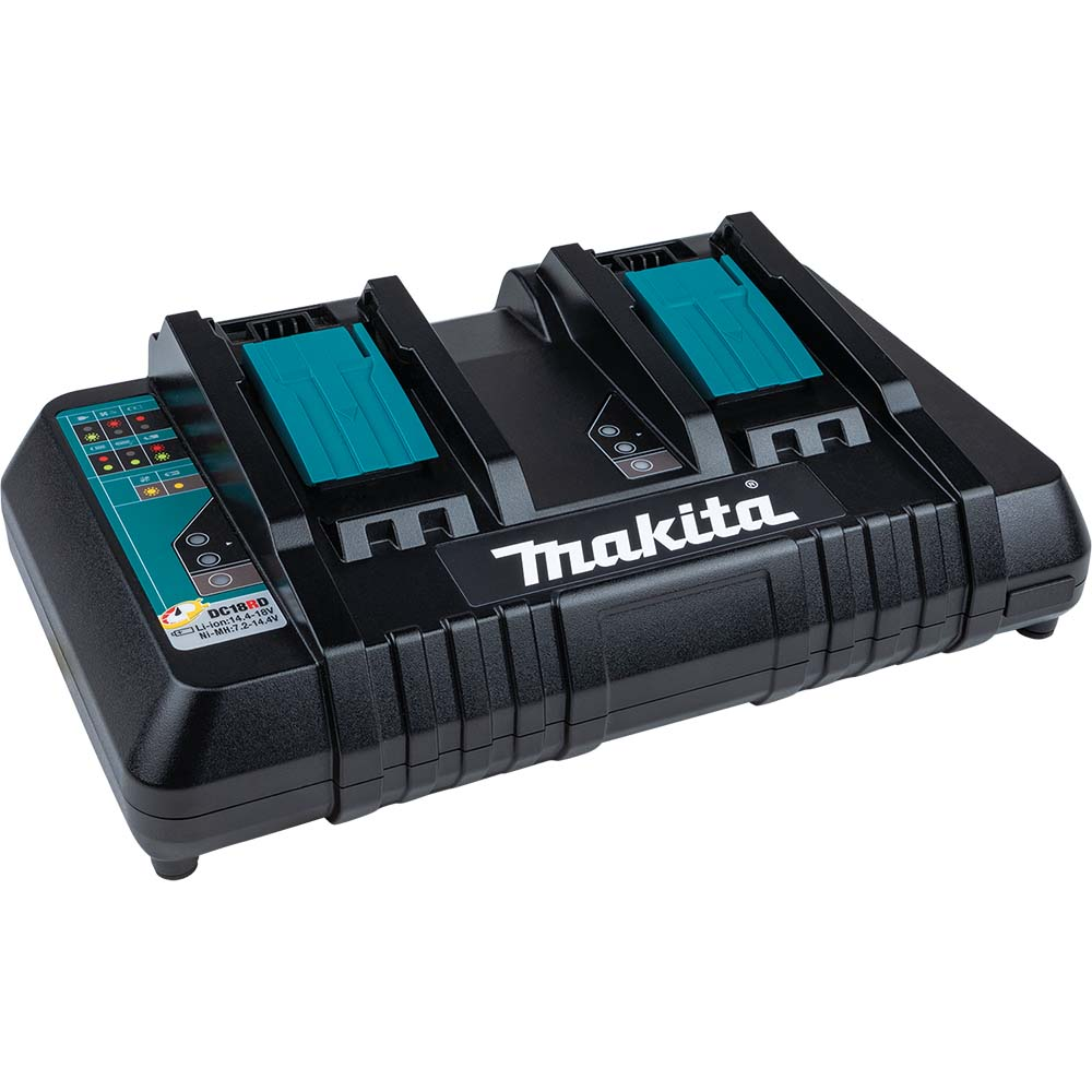 makita dc18rd makita li ion dual port battery charger 18v. Black Bedroom Furniture Sets. Home Design Ideas
