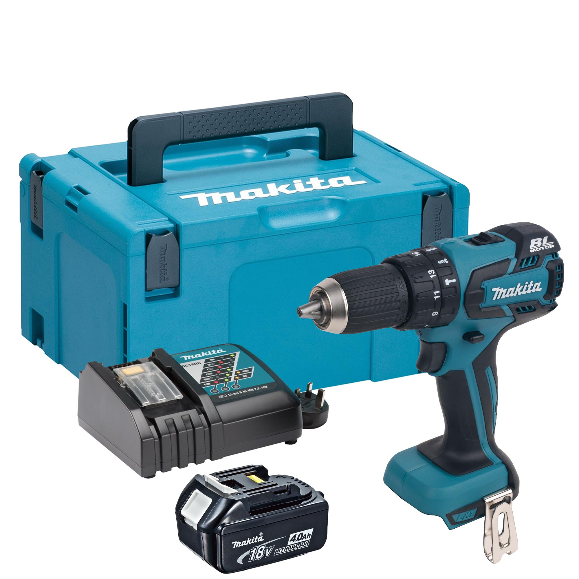 makita dhp459rmjx makita 18v brushless hammer drill driver. Black Bedroom Furniture Sets. Home Design Ideas