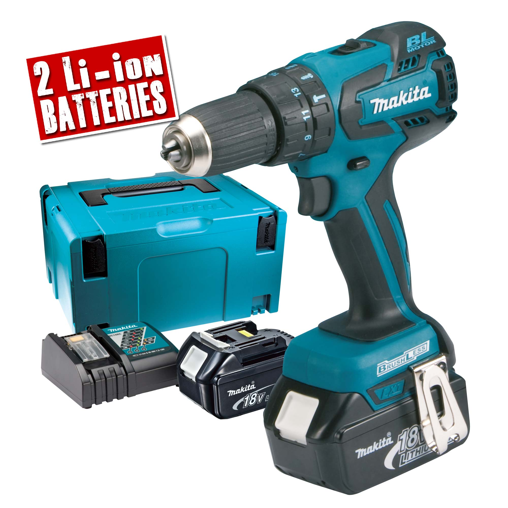 makita dhp459rtj makita 18v brushless hammer drill driver. Black Bedroom Furniture Sets. Home Design Ideas