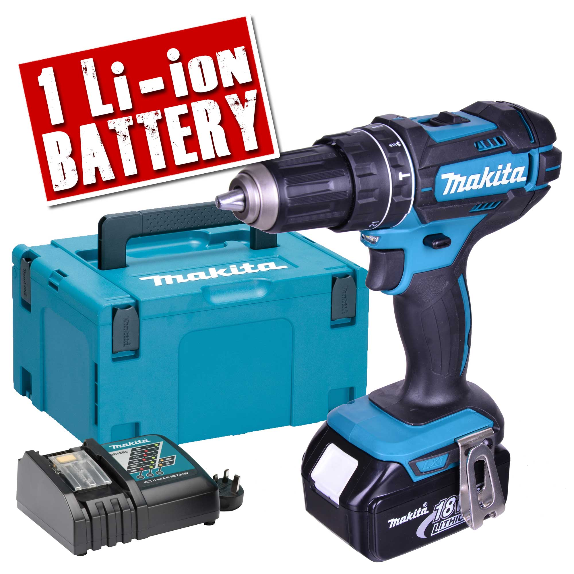 makita dhp482rtjx makita 18v li ion lxt hammer drill driver. Black Bedroom Furniture Sets. Home Design Ideas