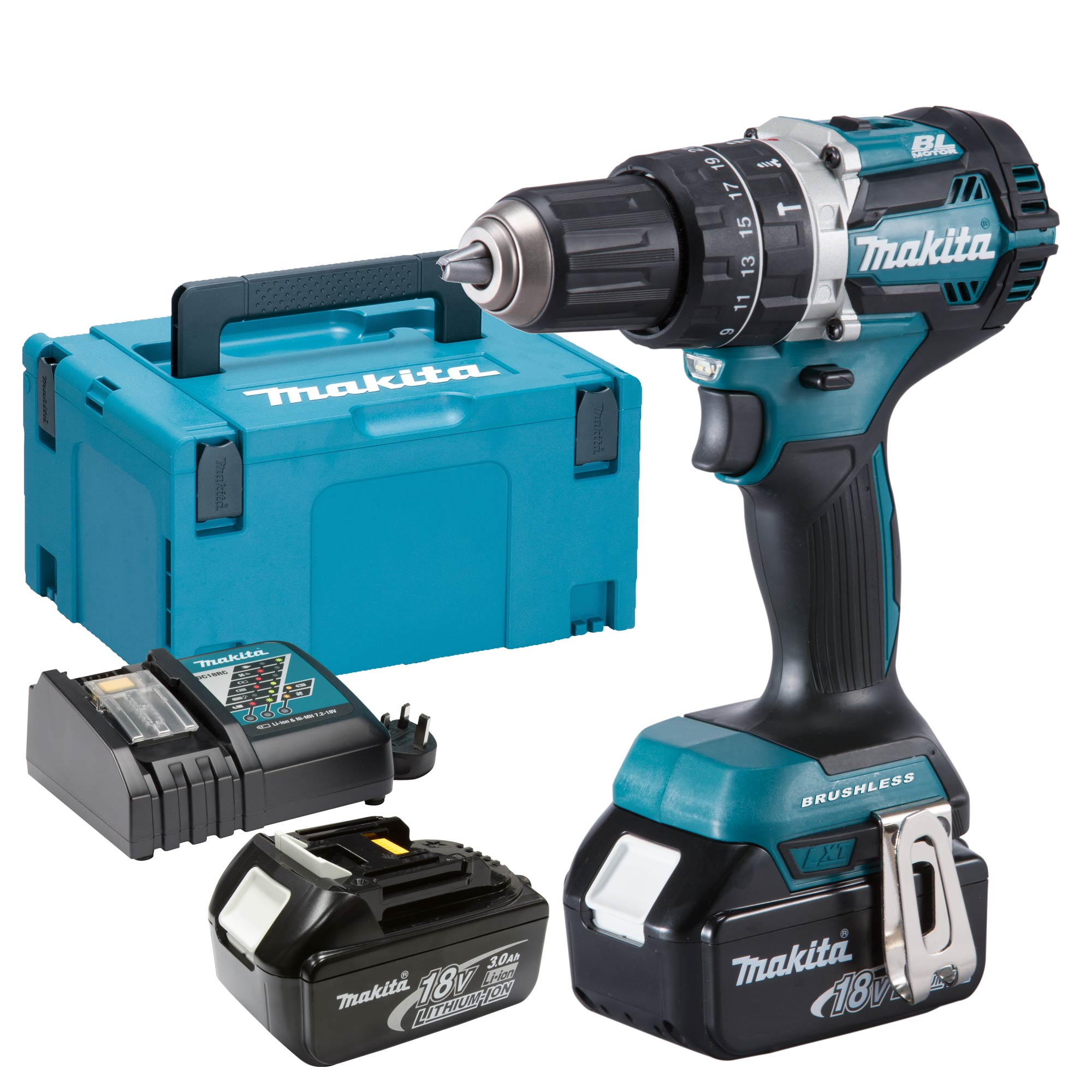 makita dhp484rj makita 18v li ion 3 0ah brushless hammer drill driver. Black Bedroom Furniture Sets. Home Design Ideas