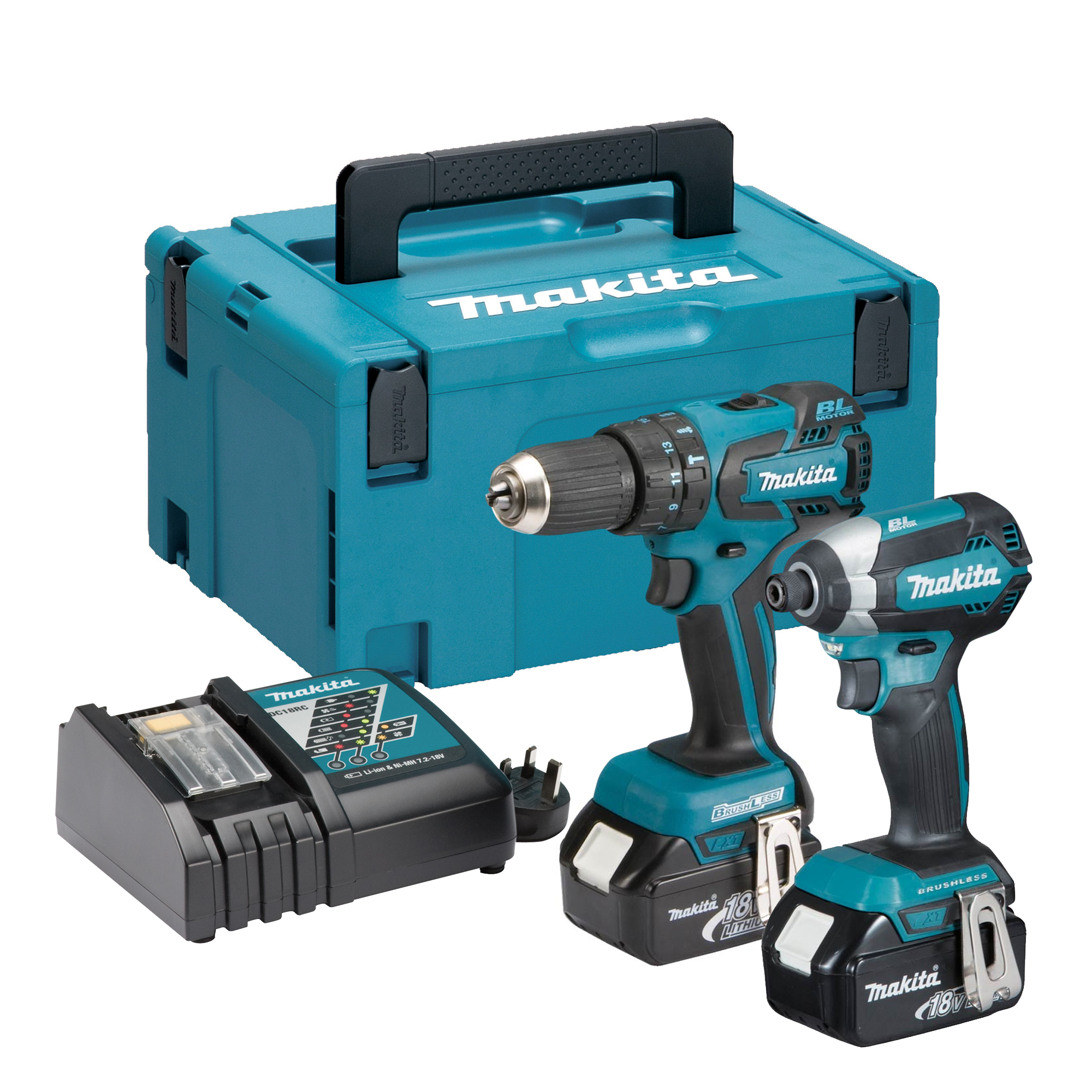 makita dlx2173rj makita 18v li ion 3 0ah brushless 2. Black Bedroom Furniture Sets. Home Design Ideas
