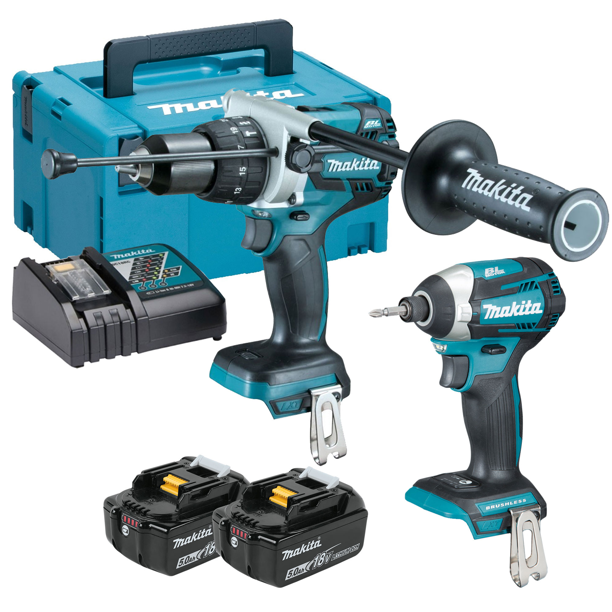 makita dlx2176tj makita 18v li ion 5 0ah brushless 2. Black Bedroom Furniture Sets. Home Design Ideas