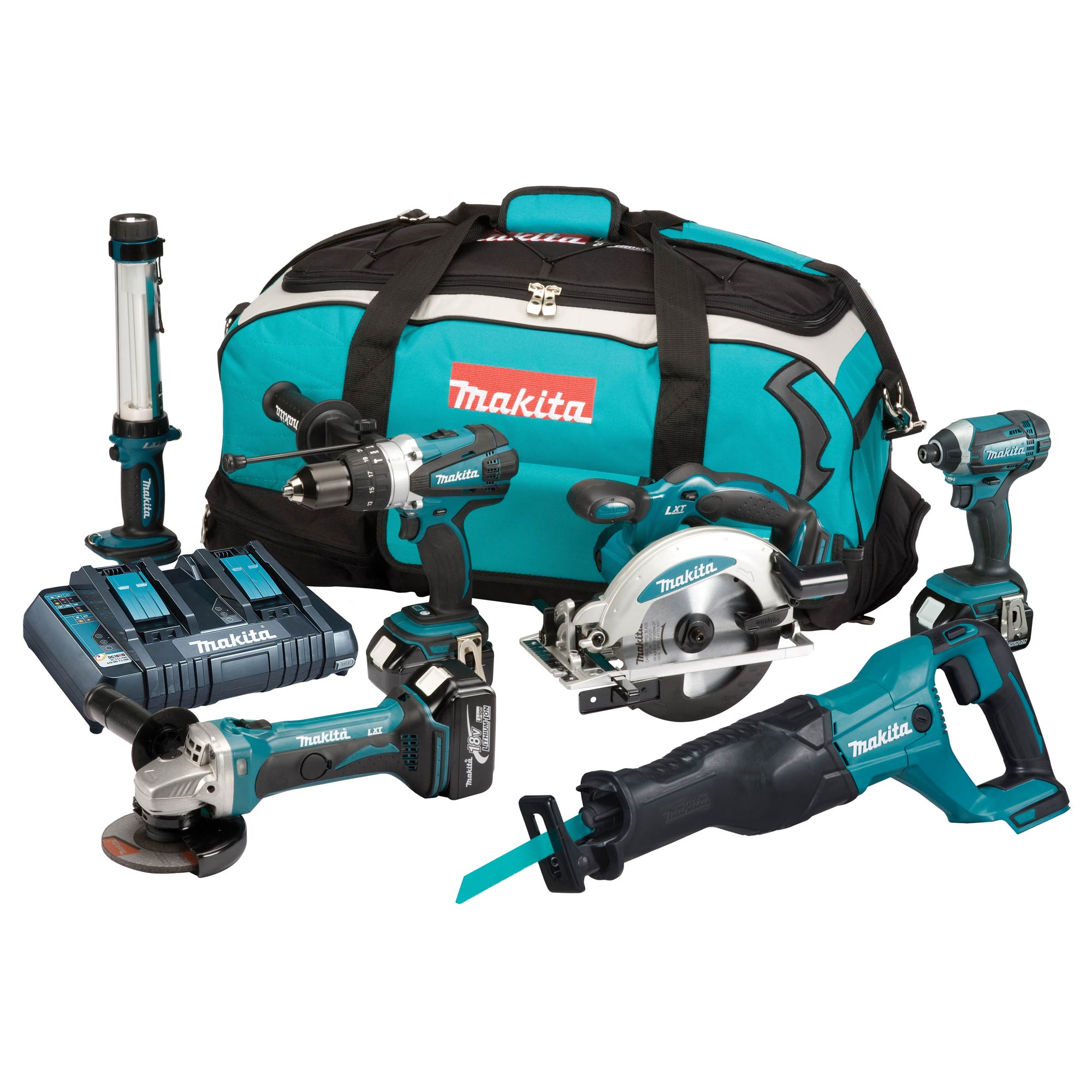 makita dlx6044pt makita 18v li ion 6 piece kit. Black Bedroom Furniture Sets. Home Design Ideas