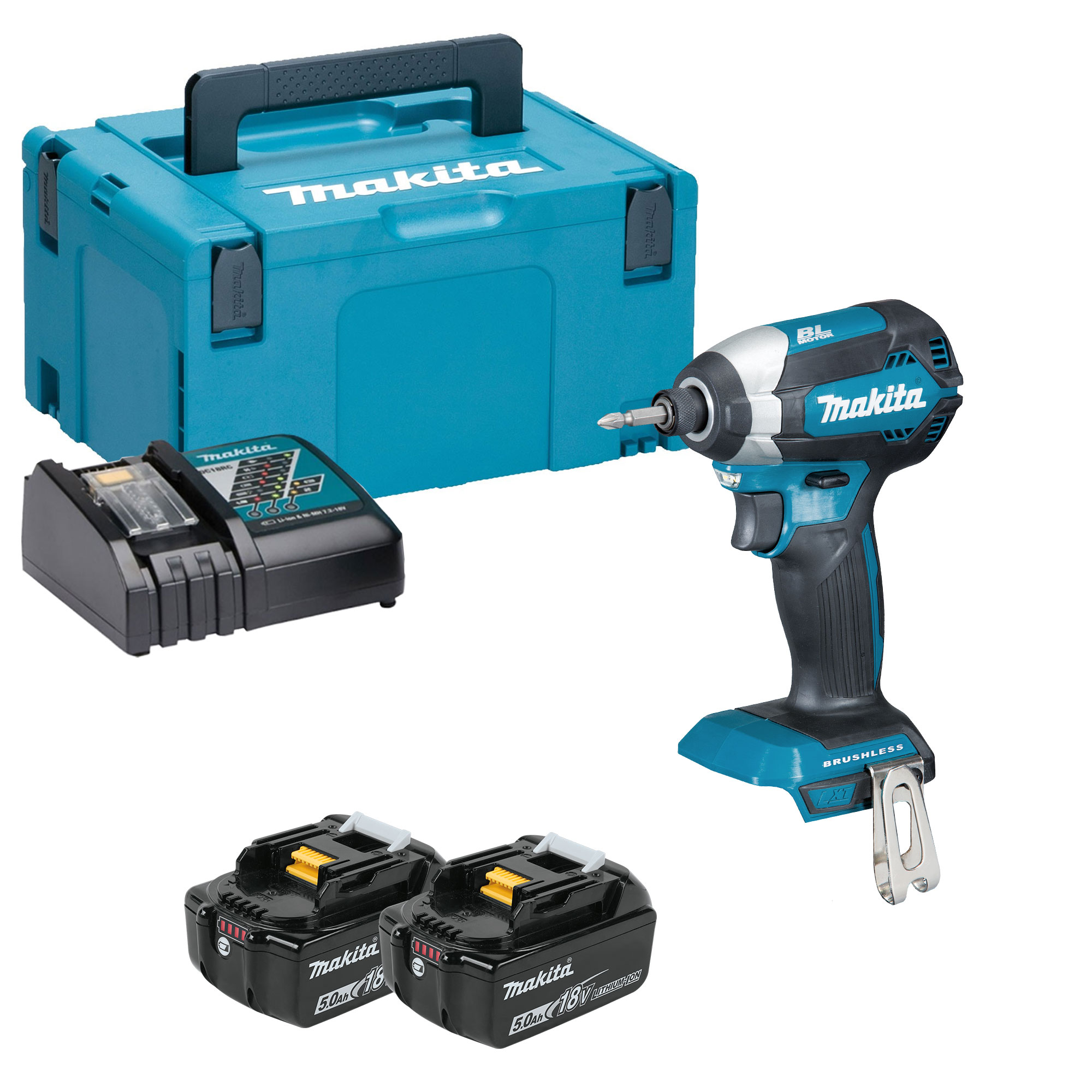 makita dtd153rtj makita 18v li ion 5 0ah cordless brushless impact driver. Black Bedroom Furniture Sets. Home Design Ideas