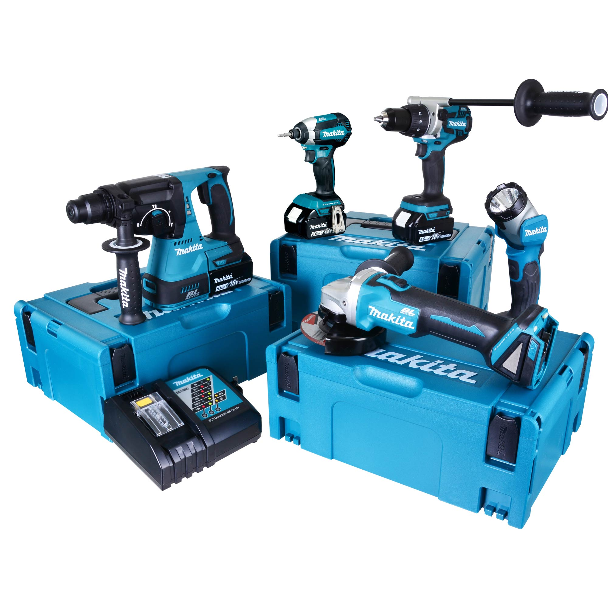 makita topkit5dj makita 18v 5 piece fully brushless kit. Black Bedroom Furniture Sets. Home Design Ideas
