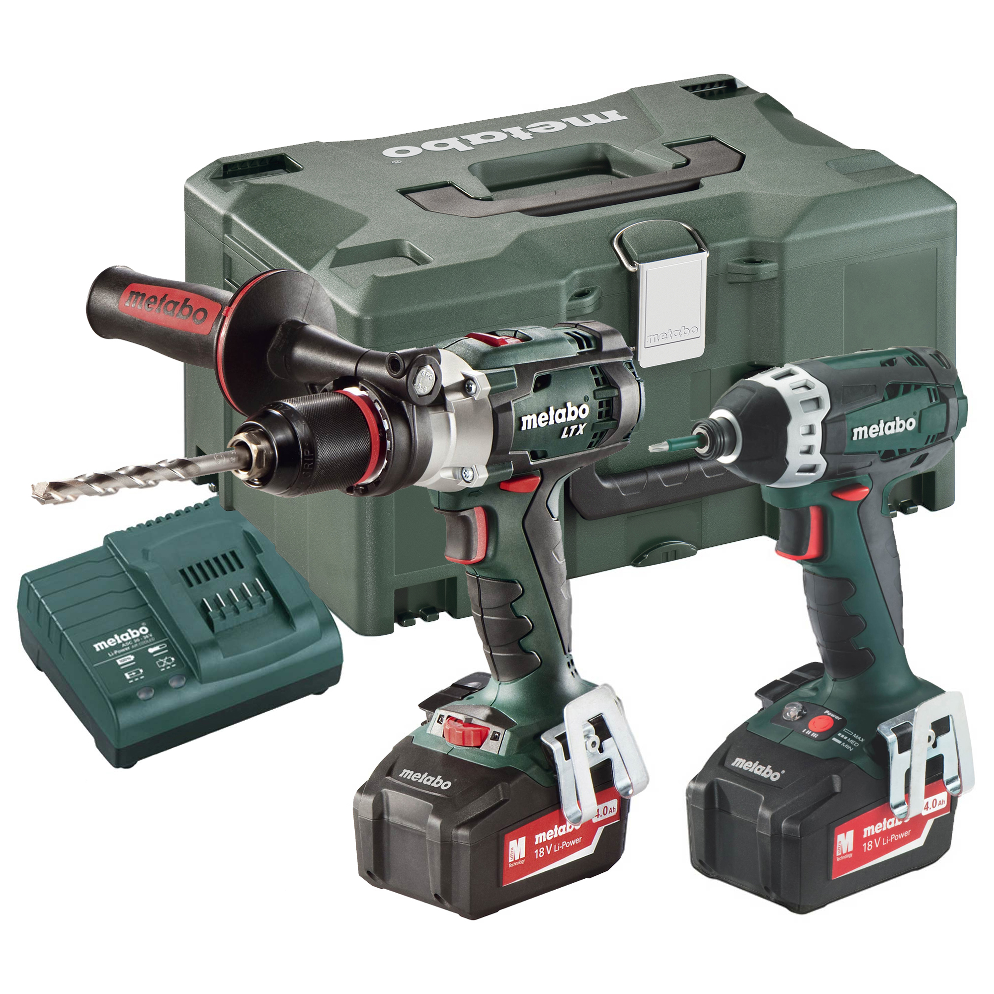 metabo combo set 2 1 6 metabo 18v heavy duty li ion 2 piece kit. Black Bedroom Furniture Sets. Home Design Ideas