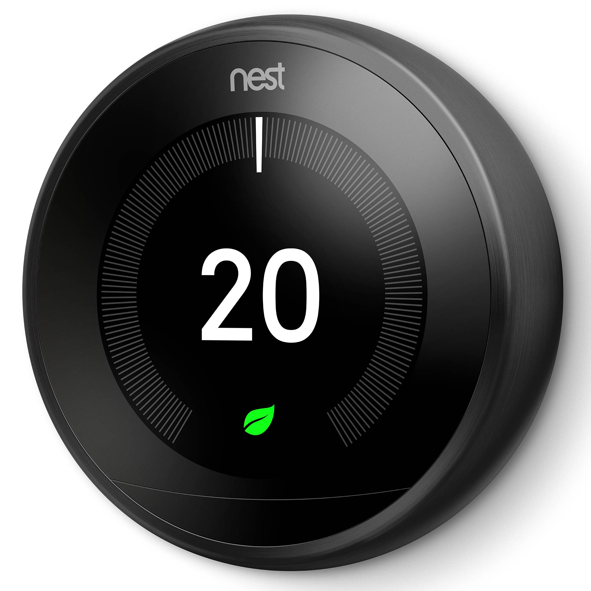 nest t3019gb learning thermostat 3rd generation black. Black Bedroom Furniture Sets. Home Design Ideas