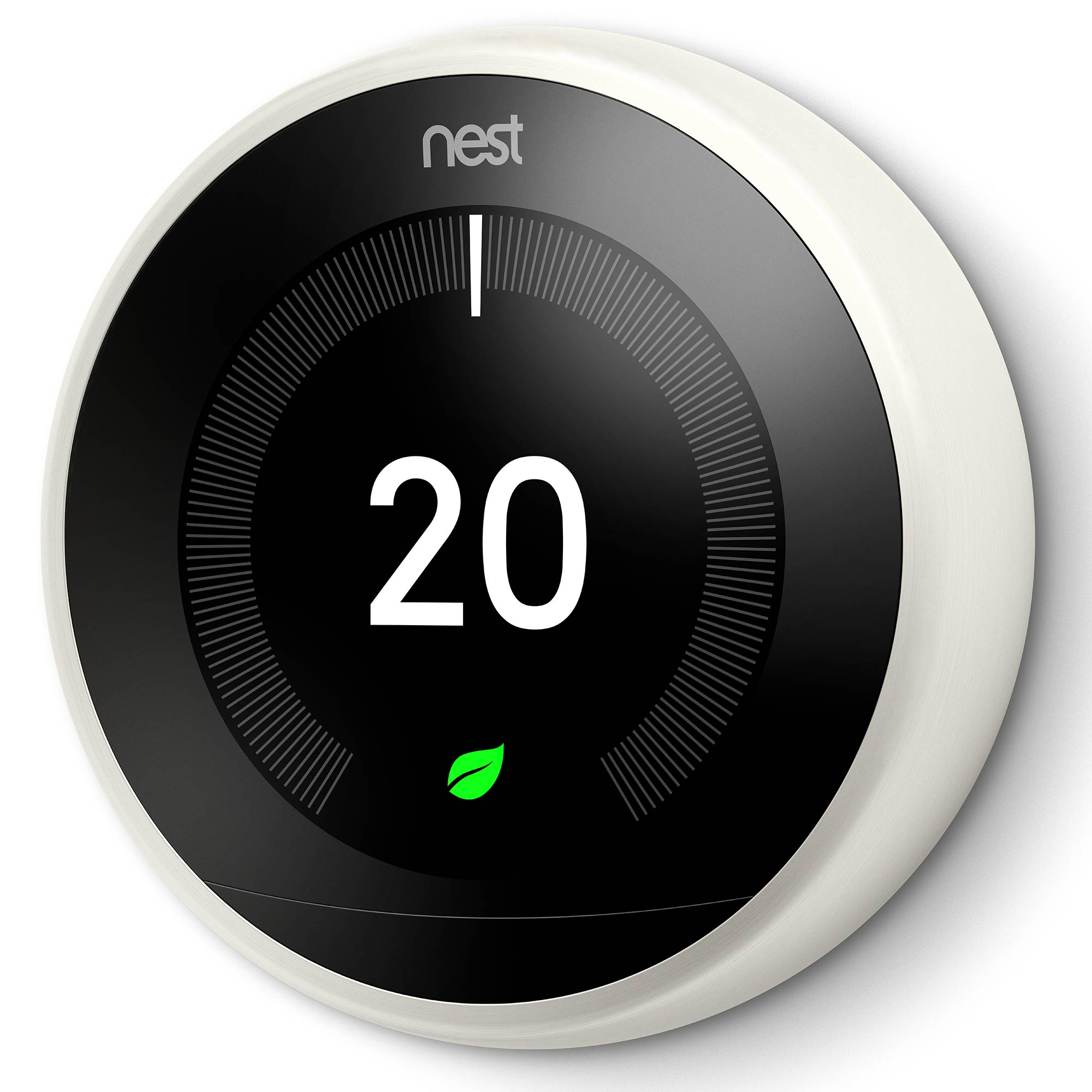 nest t3020gb learning thermostat 3rd generation white. Black Bedroom Furniture Sets. Home Design Ideas