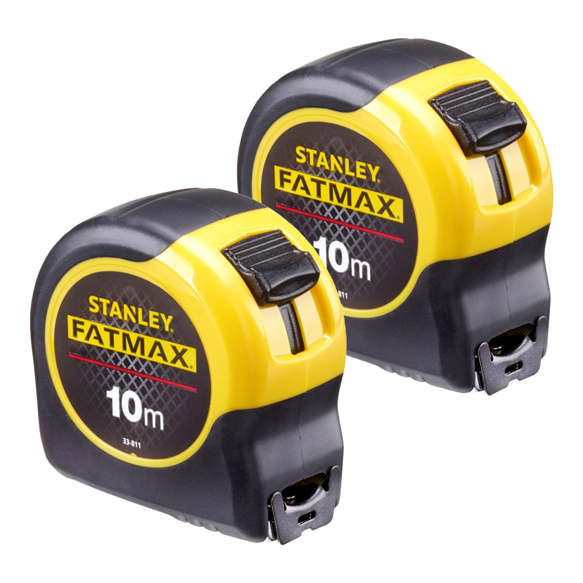 stanley 0 33 811 stanley fatmax tape 10m metric only twin pack. Black Bedroom Furniture Sets. Home Design Ideas